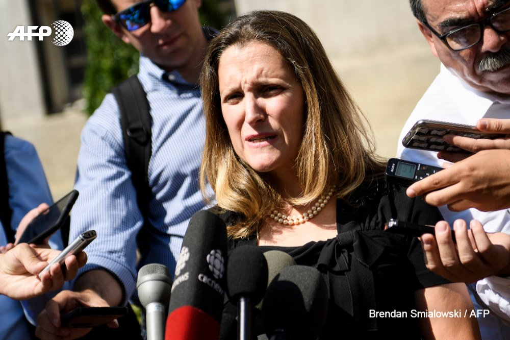 #UPDATE  Canadian Foreign Minister Chrystia Freeland announces a breakthrough in tense talks with the US on a trade pact, saying a new deal is 'imminently possiblehttps://t.co/kNWHLwGqv4'