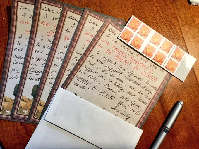 I am beyond excited to see that Republicans across the country are writing @LettersToVoters in battleground states, like Ohio. These targeted letters will help push voters to the polls this November! #WednesdayWisdom #LettersToVoters Photo
