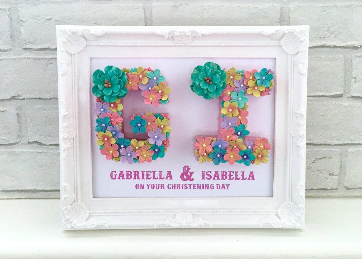 Lovelettersbyanalisa On Twitter Christening Name Gift Floral