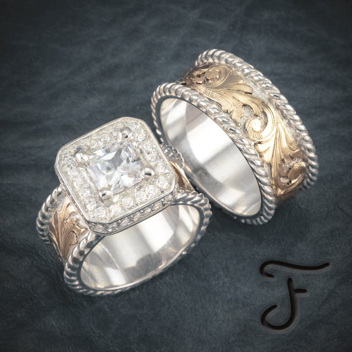 Checkout Fanningjewelry 's Wedding Sets Fanningjewelryweddingsets Married Engaged Westernwedding Weddingrings: Western Wedding Rings Marriage At Websimilar.org