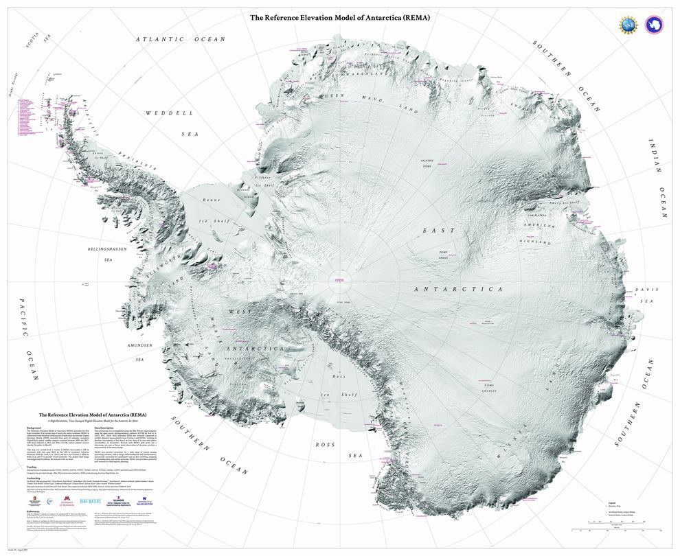 New high-resolution map of Antarctica shows the continent in incredible detail MORE: https://t.co/8wZgh6OCvt
