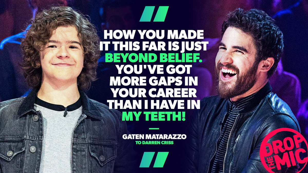 1 to 10 that diss scored an 11 🔥 @GatenM123 did not come to play with @darrencris ☠️ #DropTheMic