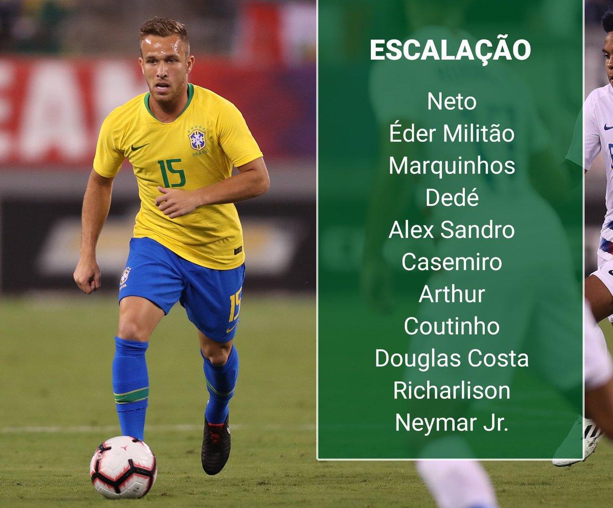 97d5016f73 Brasil escalado! assim definiu tite o time que entra em campo daqui a pouco  contra