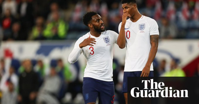 England players held angry inquest after 'embarrassing' first half says Danny Rose Photo