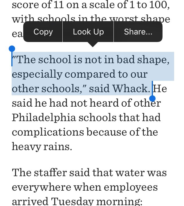 So you are really going on the record with this, @PHLschools? #PHLed