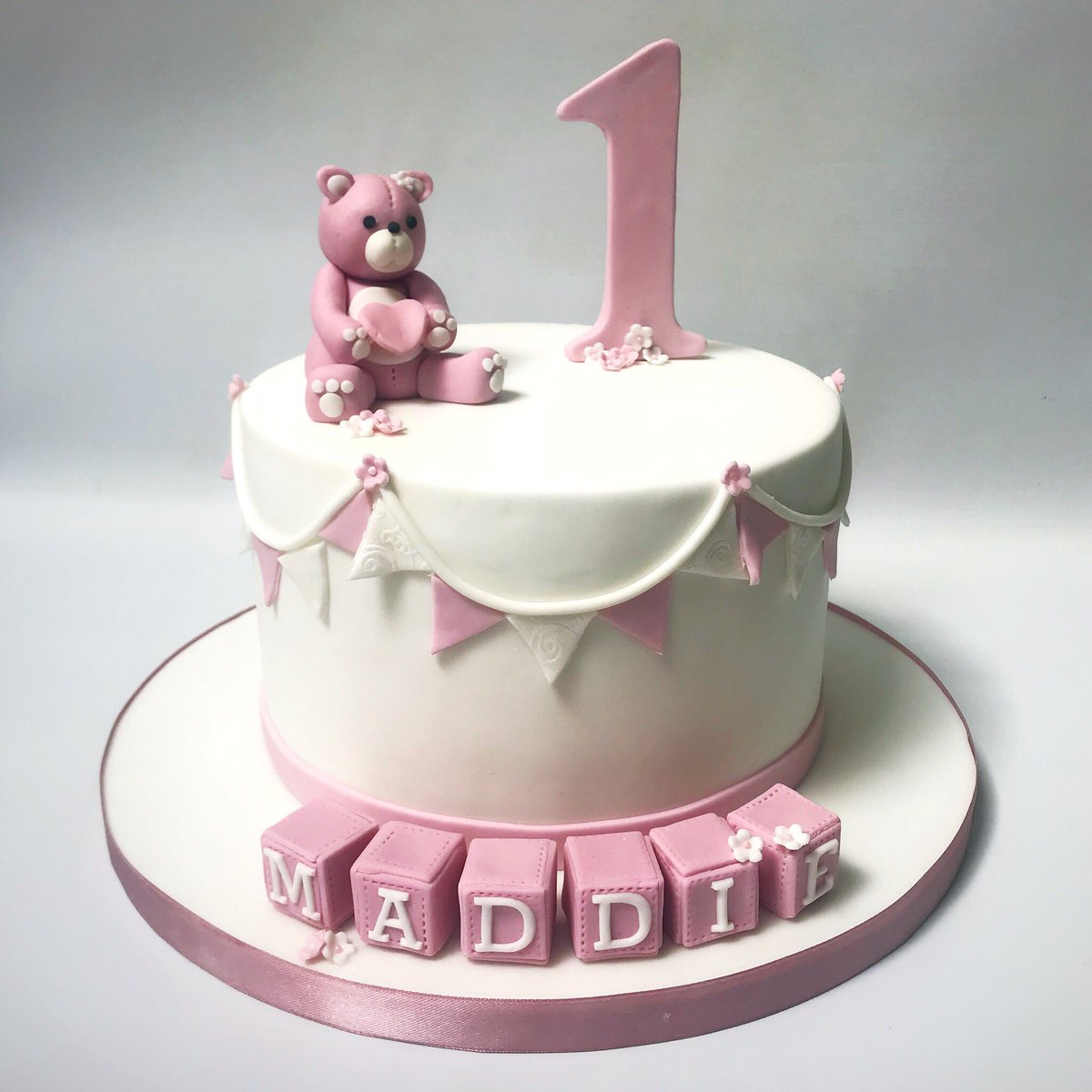 Becky Twitter A Pink Bear Cake For A 1st Birthday For