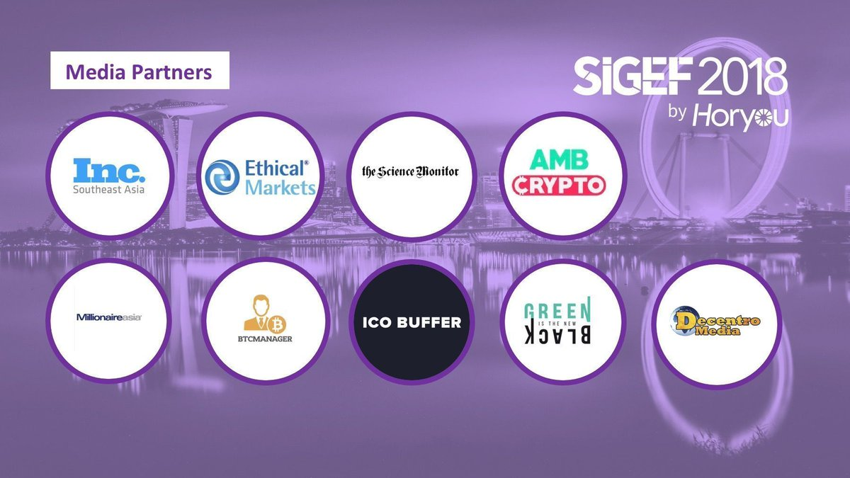 Horyou is proud to announce the media partnerships for #SIGEF2018   Get in touch with our Media Partners to book your tickets for tomorrow or visit our website here: http://bit.ly/2OWe7F7 #Singapore #SuntecSG #sustainability  @GITNBasia @ethicalmarkets @inc_asean @icobufferpic.twitter.com/vfOmk0sLWI