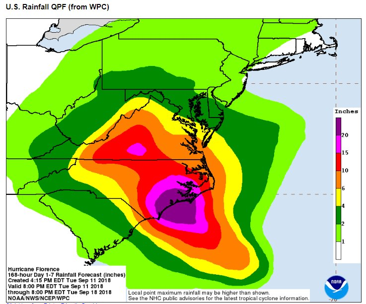 Jim cantore on twitter 13 as many unknowns remain tonight a powerful hurricane upon approach or landfall a disappearance of steering once on or near the coast epic rain totals for parts of scnc possibly va ccuart Gallery