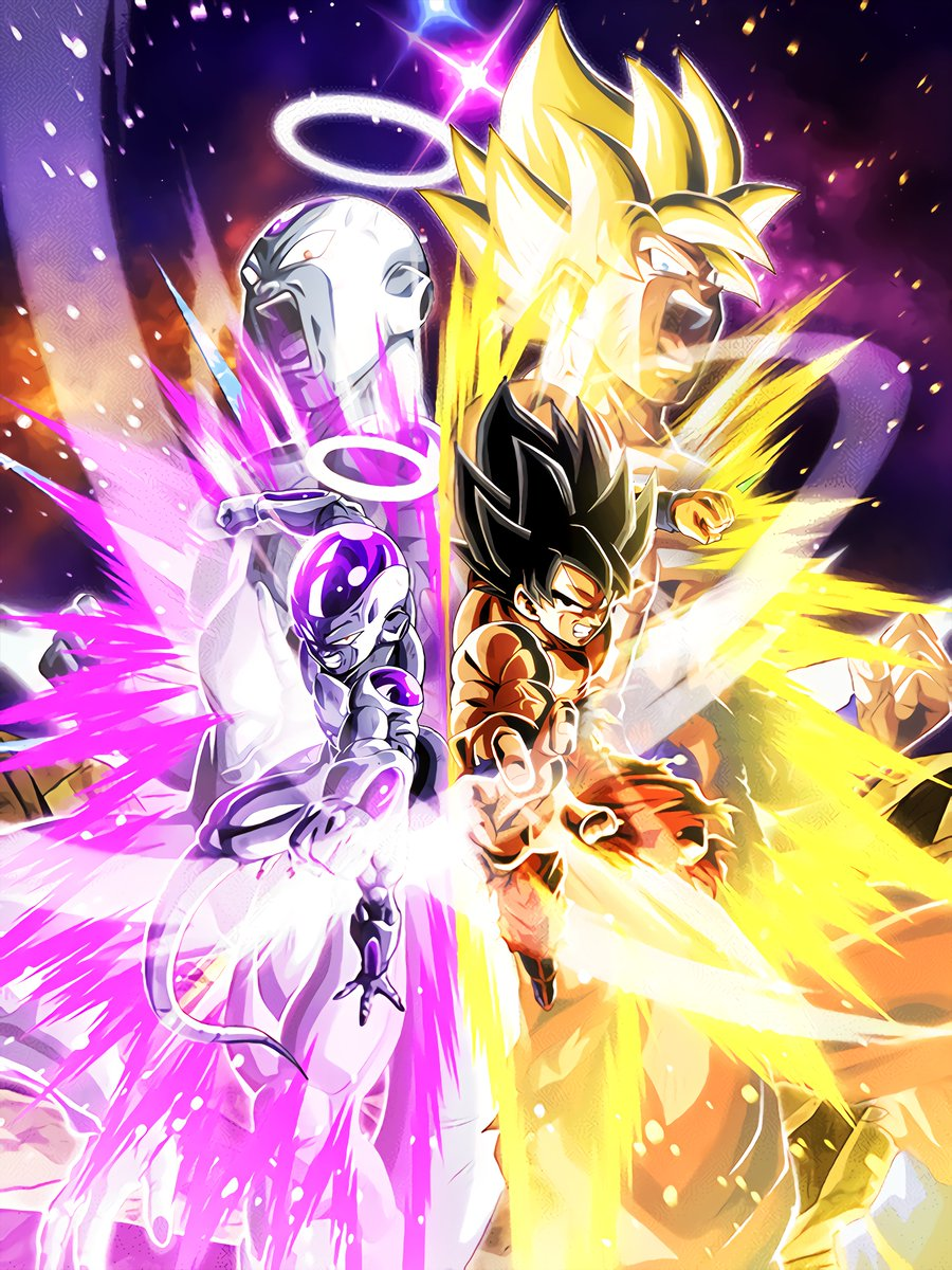 "Hydros // DokkanArt on Twitter: ""NEW LR GOKU & FRIEZA!!! # ..."