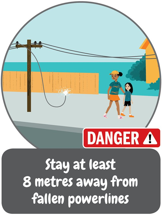 Electrical Safety Week tip #3 – Stay at least 8 metres away from fallen powerlines. #ESW2018 #beasafetystar https://t.co/6Yo4nCnT16