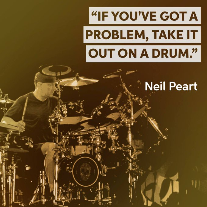 Happy Birthday to drummer and lyricist, Neil Peart!