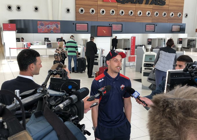 "Jake Lehmann says he's ""honoured"" to step up as captain of SA for the upcoming #JLTCup - ""Hopefully I do a good job for the boys"" Photo"