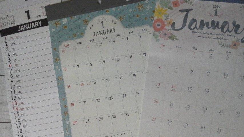 test ツイッターメディア - 2019年のカレンダーをお買い(*^_^*)??  #キャンドゥ #2019年 #カレンダー https://t.co/E26tRAAtfs