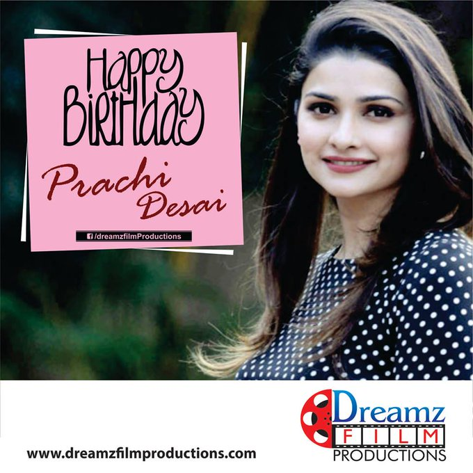Dreamz Film Productions wishes a very  to Prachi Desai (Famous Actress)