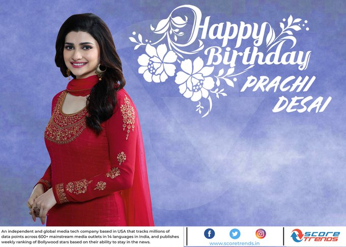 Score Trends wishes Prachi Desai a happy birthday!