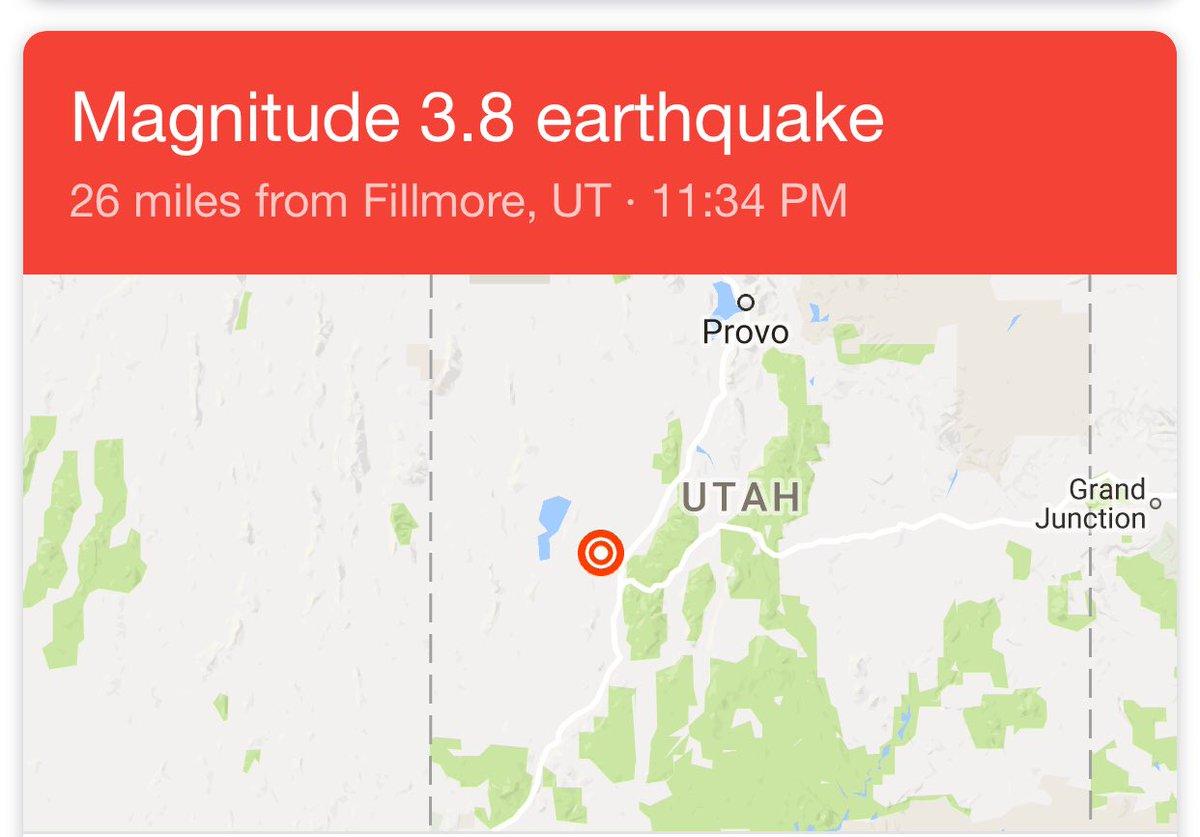 Slcscanner On Twitter Breaking Earthquake Magnitude 3 8 26 Miles
