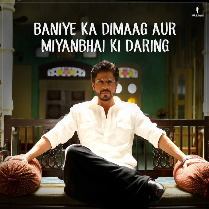 Like a BOSS! 😎 What's the first word that comes in your mind when you look at #Raees? @iamsrk #WednesdayWisdom Photo