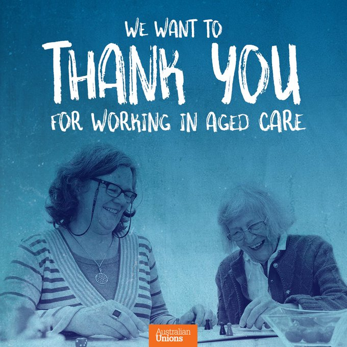 To everyone who works in #agedcare taking care of our elders, we say #ThankYou Photo