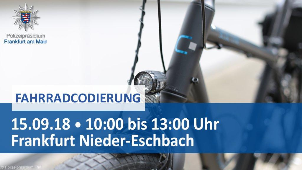 Polizei Frankfurt On Twitter Kostenlose Fahrradcodierung In