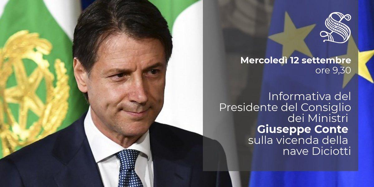 #OpenSenato. In Aula, informativa del Presidente del Consiglio dei Ministri @GiuseppeConteIT sulla vicenda della nave #Diciotti. Diretta su #SenatoTv → http://webtv.senato.it/webtv_live  - Ukustom