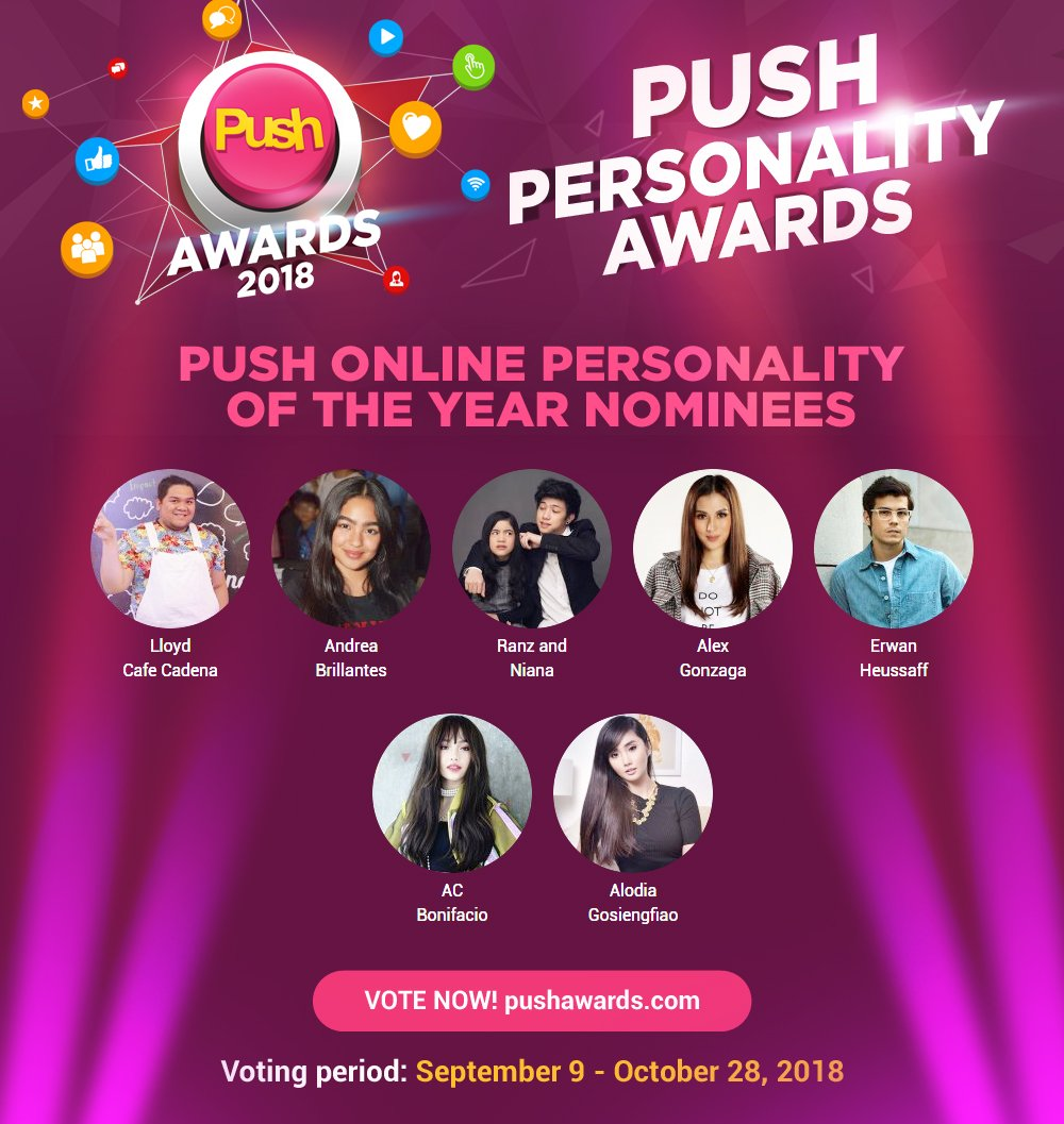 Which of these online personalities made you subscribe in a heartbeat? Vote for your Push Online Personality of the Year now! pushawards.com #PUSHitivity #PushAwards2018