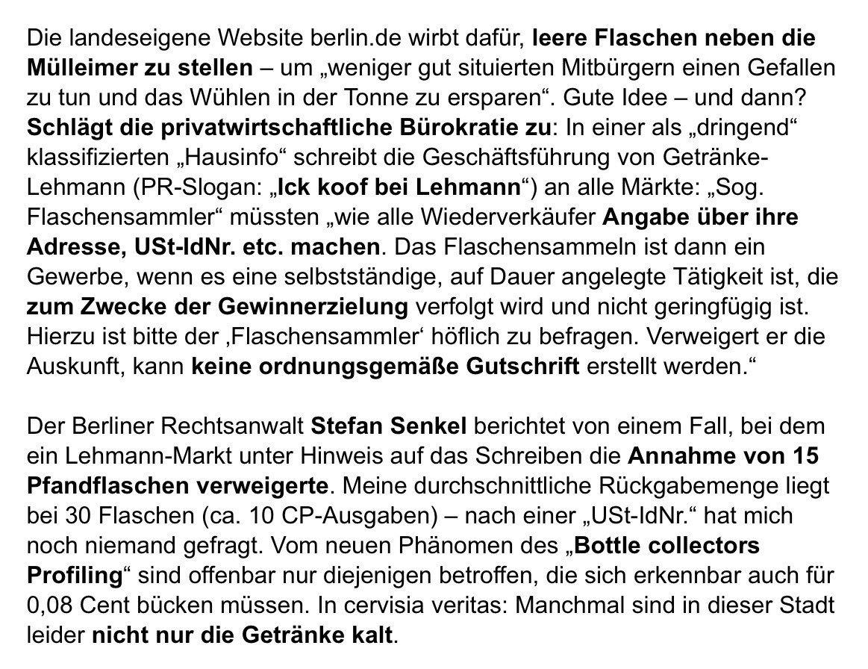 Lorenz Maroldt On Twitter Wie In Berlin Ein Getränkemarkt Versucht