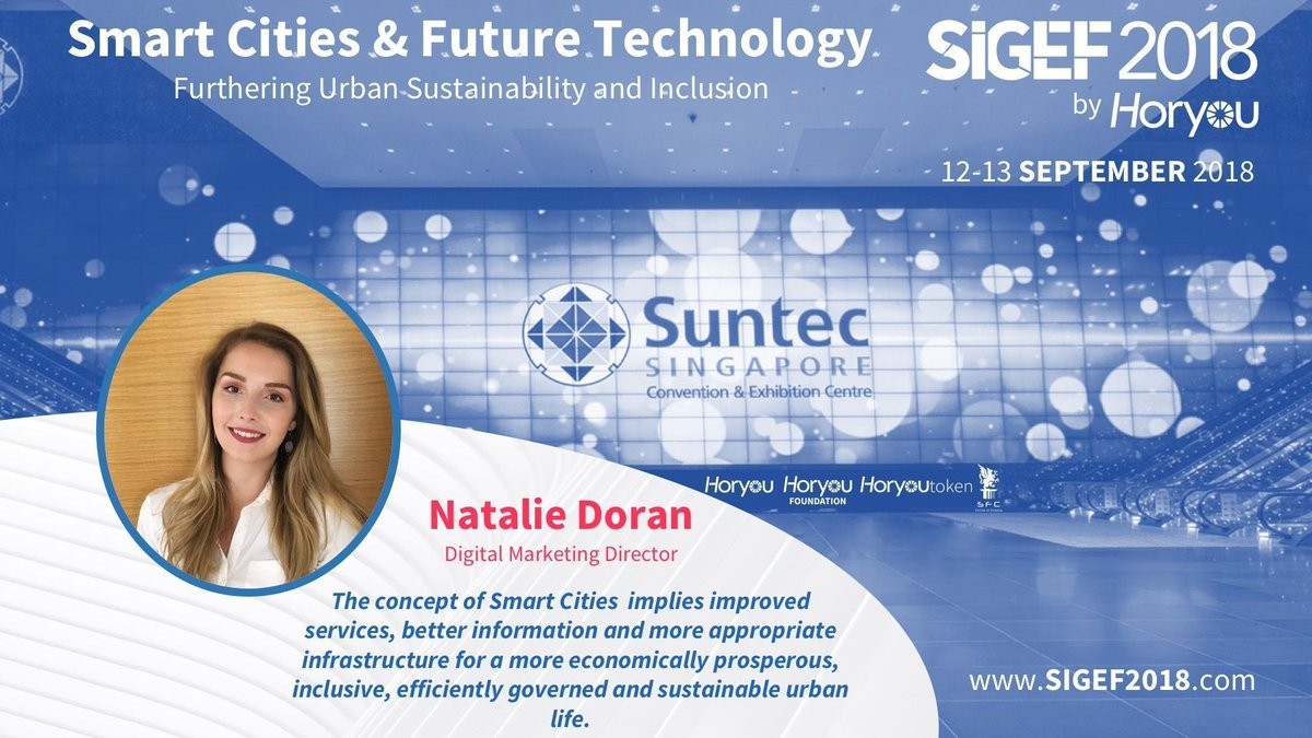 The 5th edition of the Social Innovation and Global Ethics Forum #SIGEF2018 presents its #SmartCities Speaker @NatDoranDoran. Learn more about our Speakers: http://bit.ly/2HzJK2q  #SmartCity #SustainableCities #IoT #SuntecSG #Singaporepic.twitter.com/4axtguRgV4
