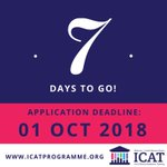 The countdown is on - 1 week to go until the deadline for Wellcome-HRB ICAT Fellowship applications! Submit your application now at https://t.co/lOIPZ2cuRM and make sure your referees are aware of the deadline! Contact us with any Qs
