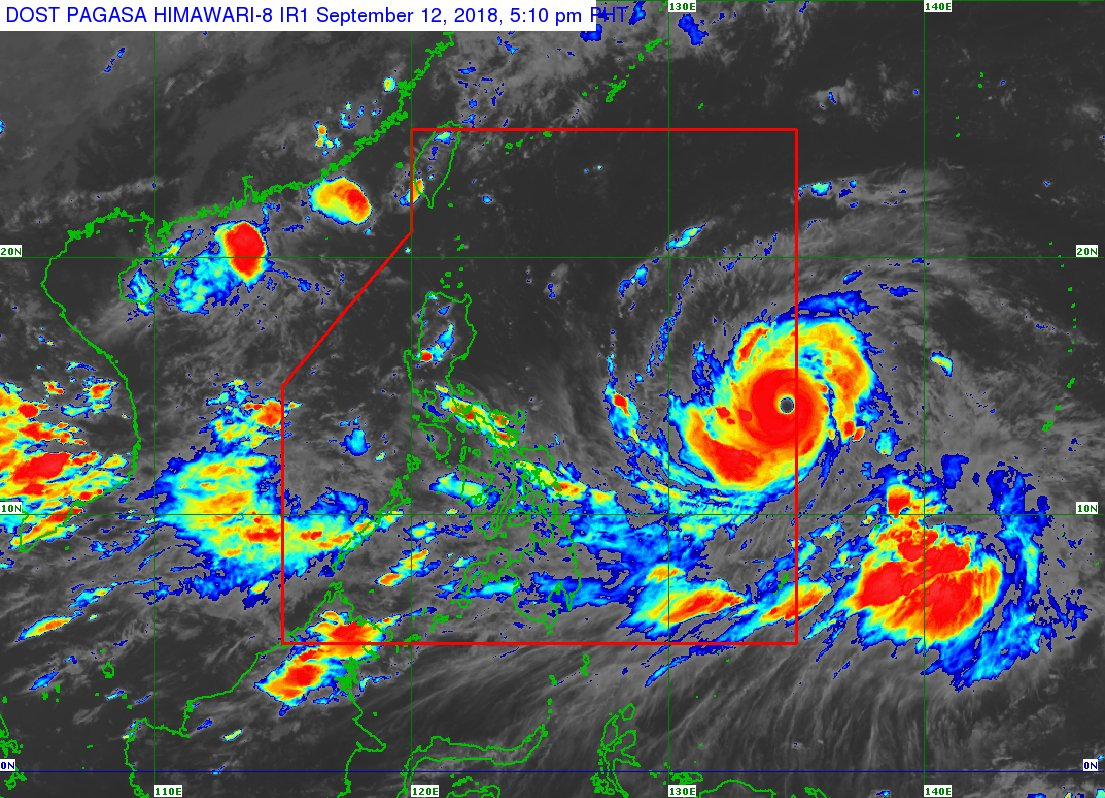 Typhoon Mangkhut has entered the Philippine Area of Responsibility and was named '#OmpongPH'.