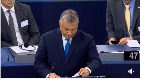 """Il coraggioso discorso di Viktor #Orbán al Parlamento europeo: """"L\"""
