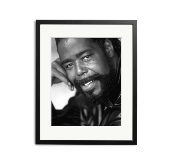 Happy Birthday to Barry White, photographed in 2002 by Kevin Cummins.