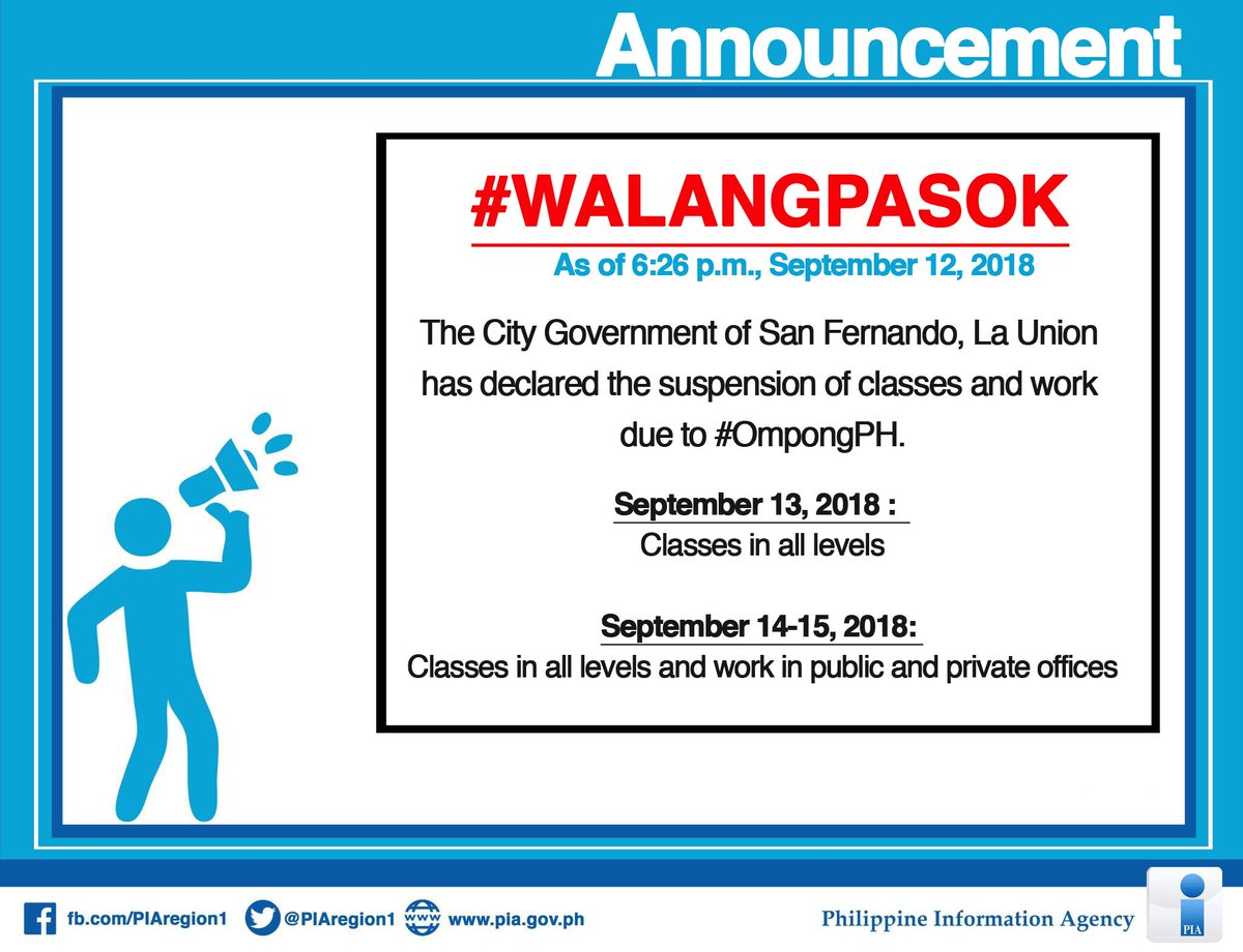Suspension Of Classes Work Due To Ompongph September   Classes In All Levels September  Classes In All Levels And Work In