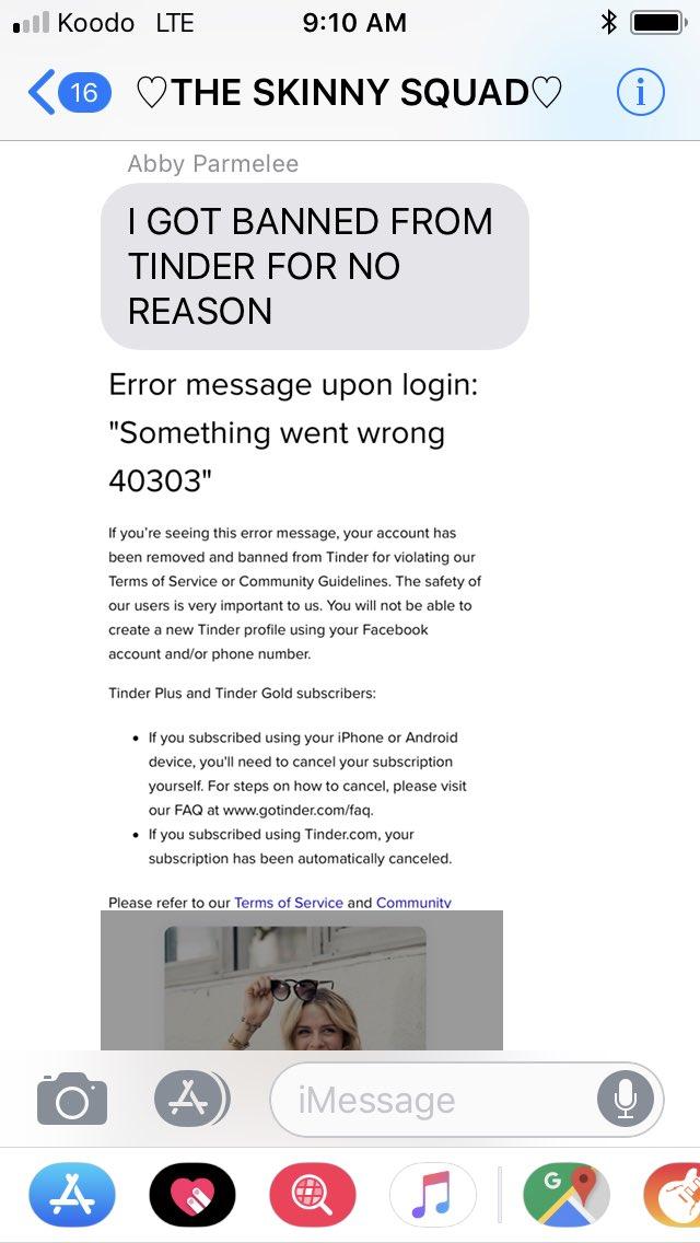 Error 40303 tinder Tinder Error