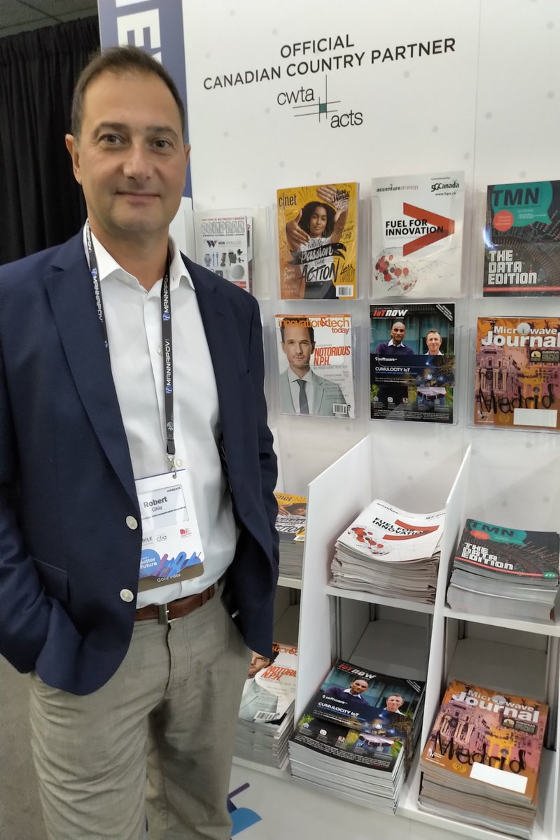 test Twitter Media - CWTA President and CEO @RobertGhiz checking out the #MWCA18 literature corner, featuring physical copies of the recently released 5G Canada Council report — be sure to grab yours before they're gone! https://t.co/3XgyAnrKv7