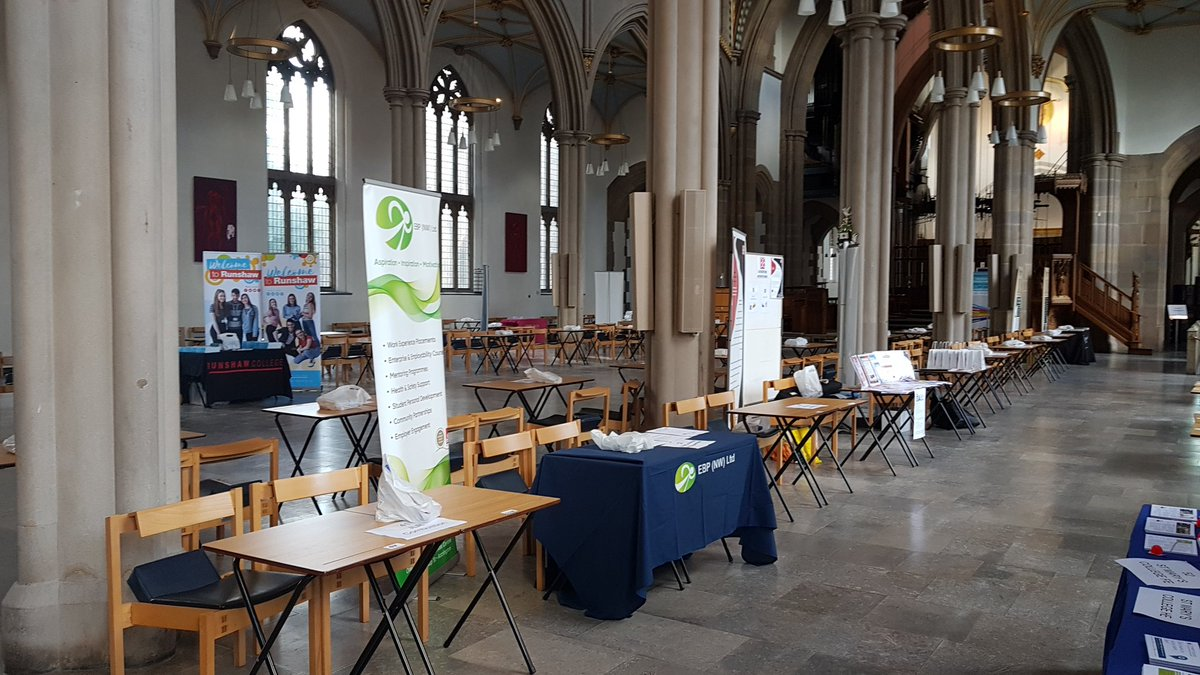 Here till 4pm today - can you spot our stall? #inspiringlancashire #workexperience