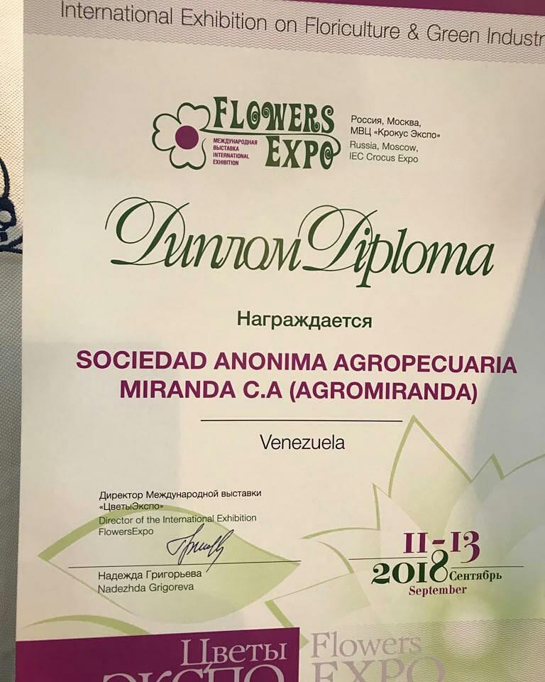 Venezuela recibió premio internacional de la flor de mejor calidad en Feria Internacional de Moscu Dm56BB4X4AMXMMB