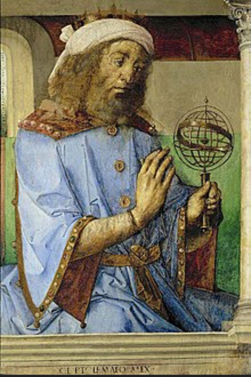 Ptolemy made a geocentric model of the universe (Ptolemaic system), believed that the earth was the center of the universe, geographer, and mathematician. (c. 100-170 AD) #ptolemaicsystem https://t.co/Zoonr7yV75