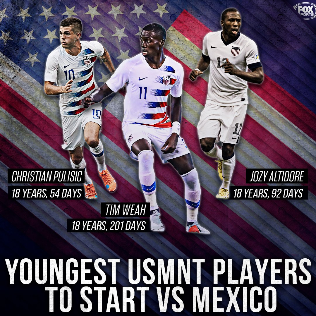 Remember the name. Tim Weah became the 3rd-youngest USMNT player ever to suit up against rivals Mexico last night.