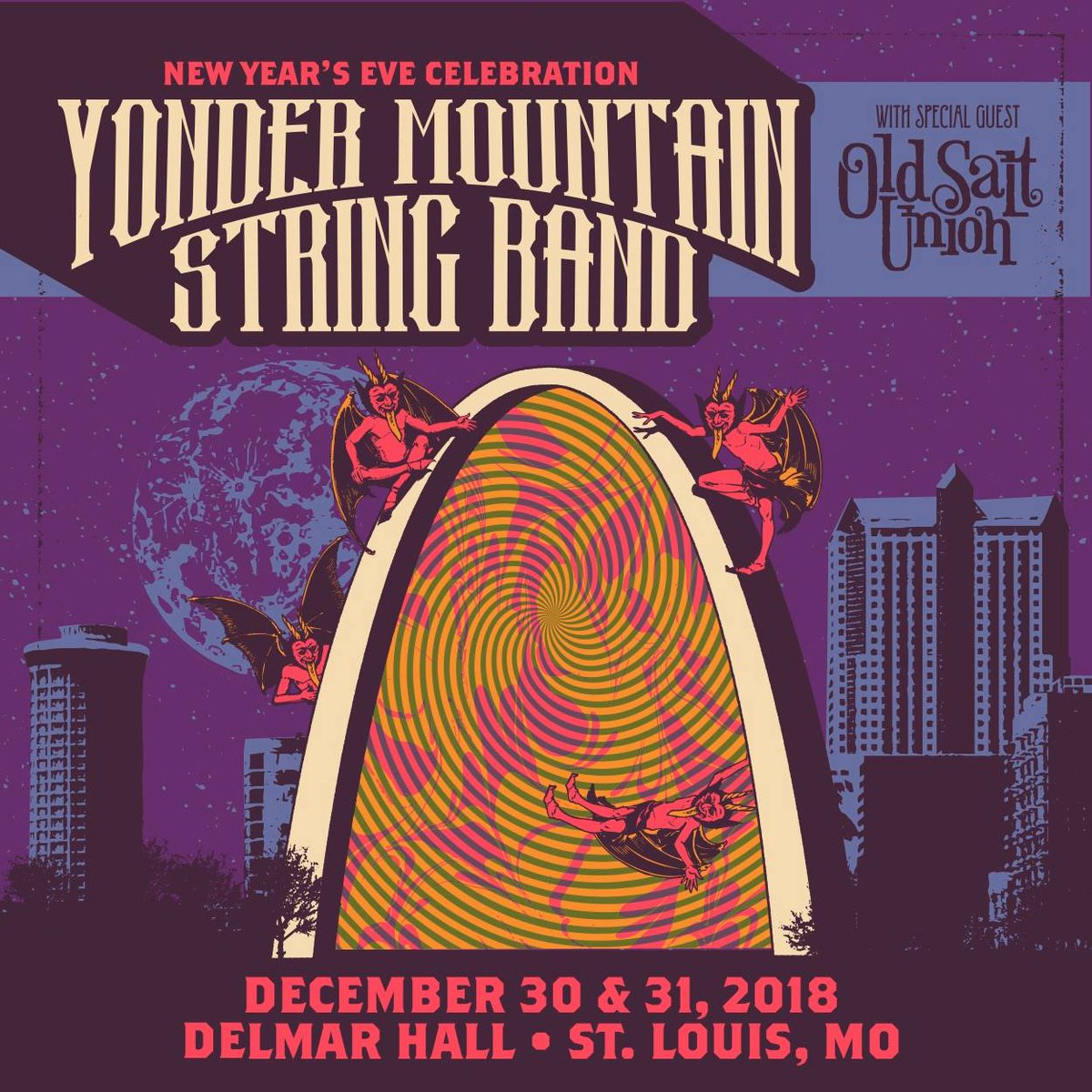 #STL! Well see you at @DelmarHallstl 12/30-31 supporting our friends @YonderMountain! This is our first time playing New Years Eve and we cant wait to bring out all the family and friends to ring it in right! See you soon! Tix: bit.ly/NYE2018presale