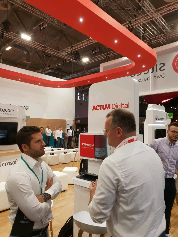 Our ACTUM Digital team is at @dmexco in the hall 6. Come to talk with us! #DMEXCO18 #Sitecorebooth https://t.co/XBCu7rbQz2