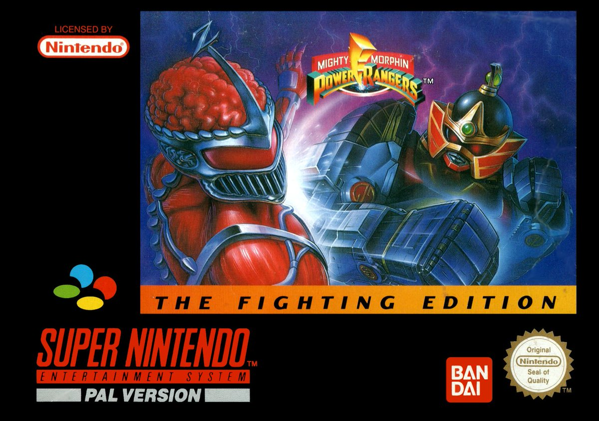 Cool Box Art On Twitter Mighty Morphin Power Rangers The Fighting Edition Snes Bandai 1995