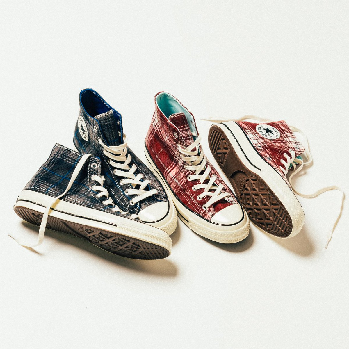 f67ccd65ac55 The Converse Chuck Taylor All Star 70 Hi Plaid Pack now available in-store    online. https   bit.ly 2gseecJ pic.twitter.com PR7DphnFna