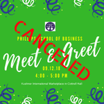CANCELED: Today's School of Business Meet & Greet has been canceled, with hopes to reschedule after the storm passes. We will keep you posted about a new date and time. Please stay dry and safe. #MyMajorAtHPU #HPU365