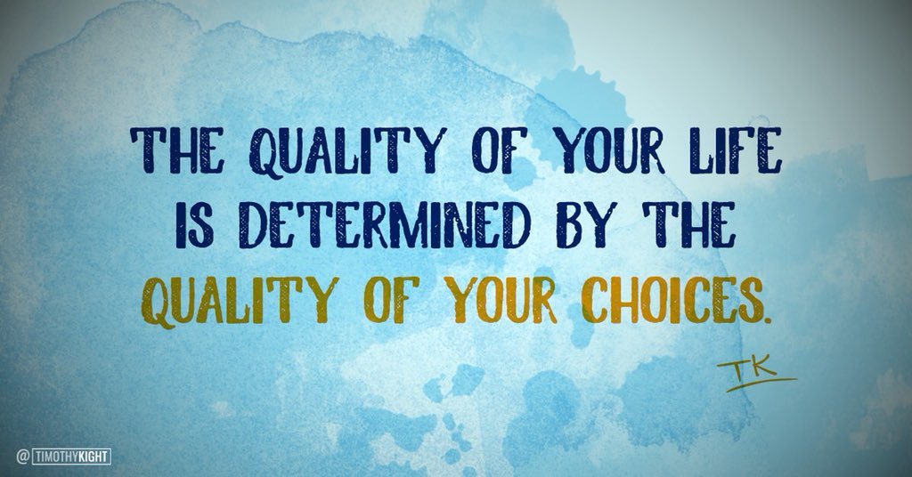 The choices you make, make all the difference.