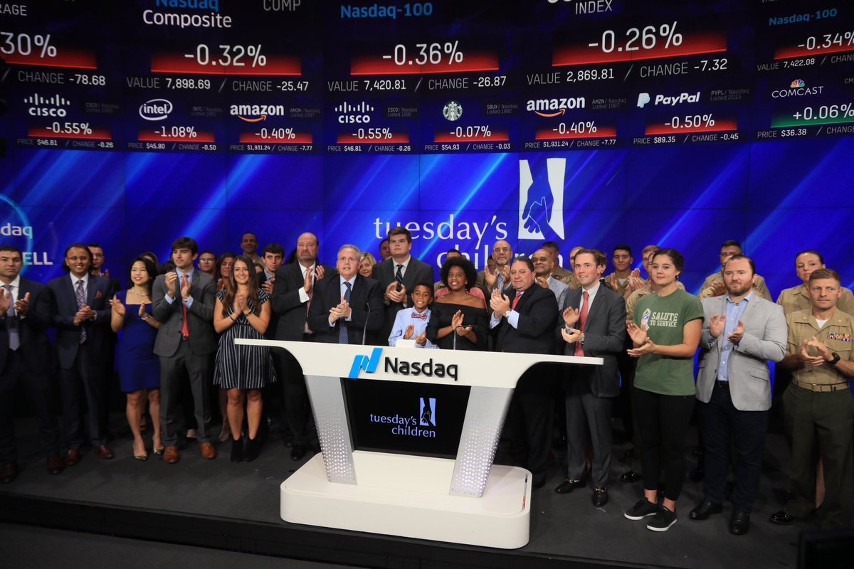 #Marines attending NYC Media Symposium were Honored to join @Tuesdayschldrn as they opened the @Nasdaq on #911Anniversary. #NeverForget #ServiceToCountry <br>http://pic.twitter.com/aI2SrDBIIB