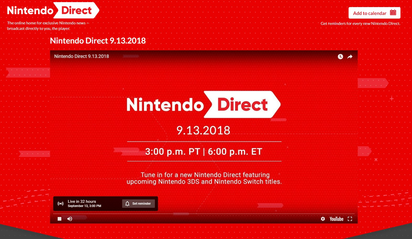 Nintendo Direct confirmed for tomorrow at 3PM PT https://t.co/XFt8n0XLC5 https://t.co/yOAvr8IdlT