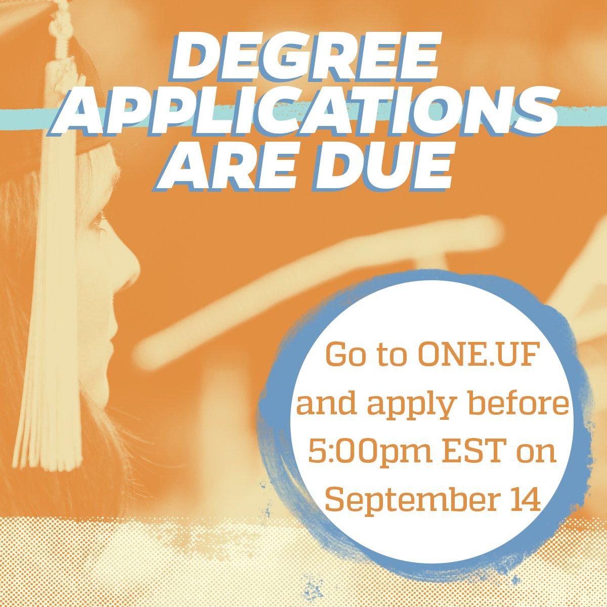Uf Application Deadline >> Uf Univ Registrar On Twitter Apply To Graduate Today