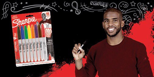 Teamed up with @Sharpie, @PlayersTribune and my charity @CP3Cares for a limited edition @Sharpie pack!! Grab your pack today to #uncap the possibilities for change. #ad bit.ly/CP3xSharpie