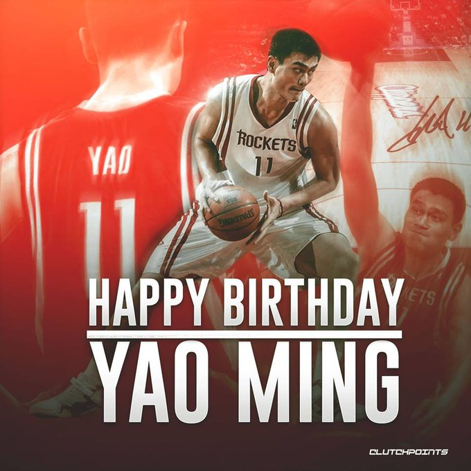 Happy 38th birthday to one of the most influential players in the history of the NBA, the great Yao Ming