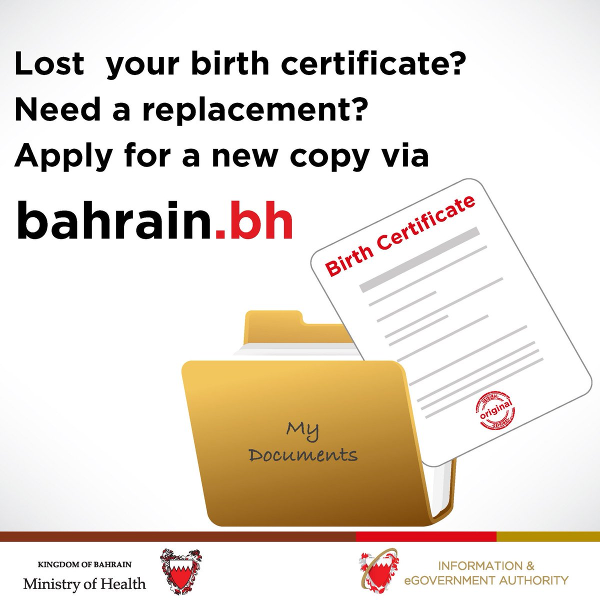 Iga Bahrain On Twitter Lost Your Birth Certificate Get A